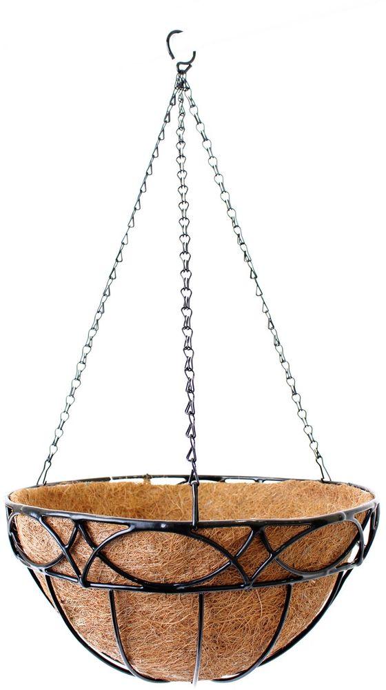 Кашпо подвесное Garden Show Сфера, с вкладышем из коковиты, диаметр 35 см. 466517 вкладыш из коковиты garden show сфера в кашпо диаметр 35 см