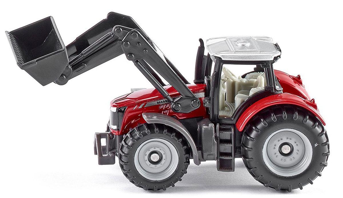 Siku Трактор Massey-Ferguson с фронтальным погрузчиком siku трактор john deere с пресс подборщиком