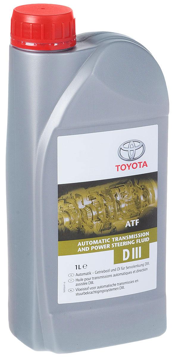 """Масло трансмиссионное """"Toyota"""", для АКПП и ГУР, синтетическое, класс вязкости ATF, 1 л"""
