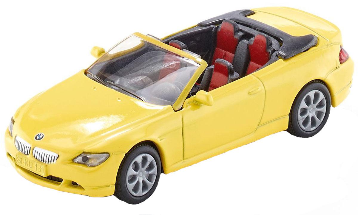 Модель автомобиля Siku BMW 645i Cabrio, 1007, желтый игрушка siku бмв 645i кабриолет 8 9 3 8 2 4см 1007