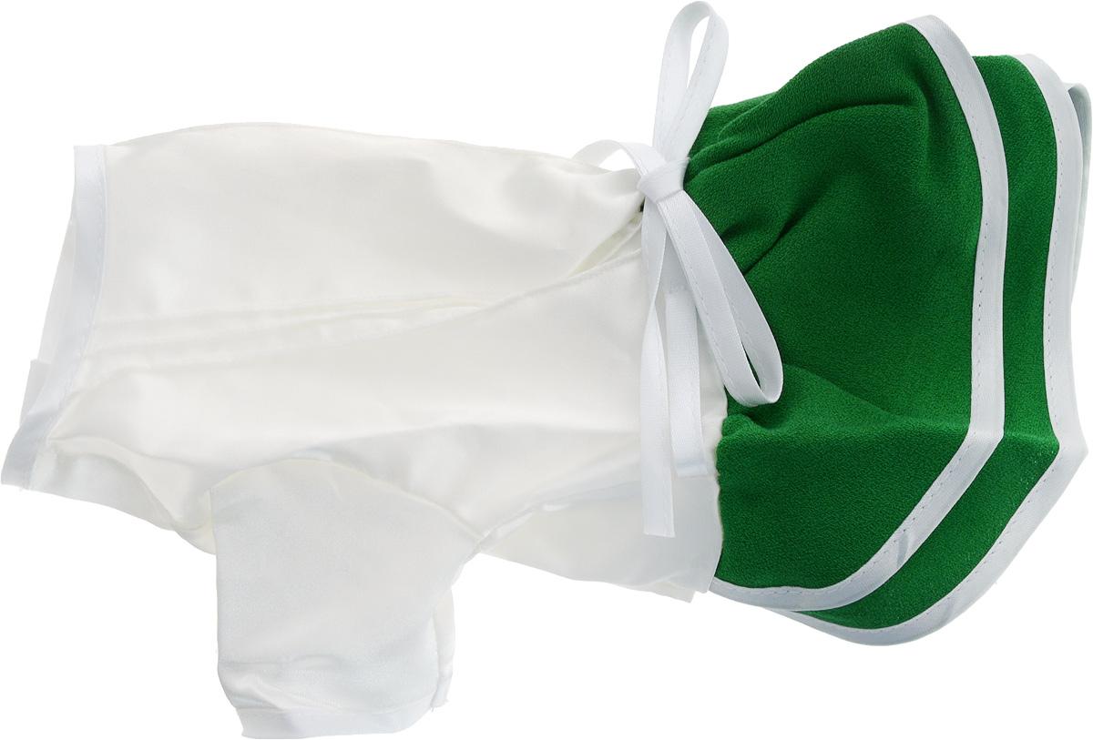 """Платье для собак GLG """"Летнее ассорти"""", цвет: зеленый. Размер M"""