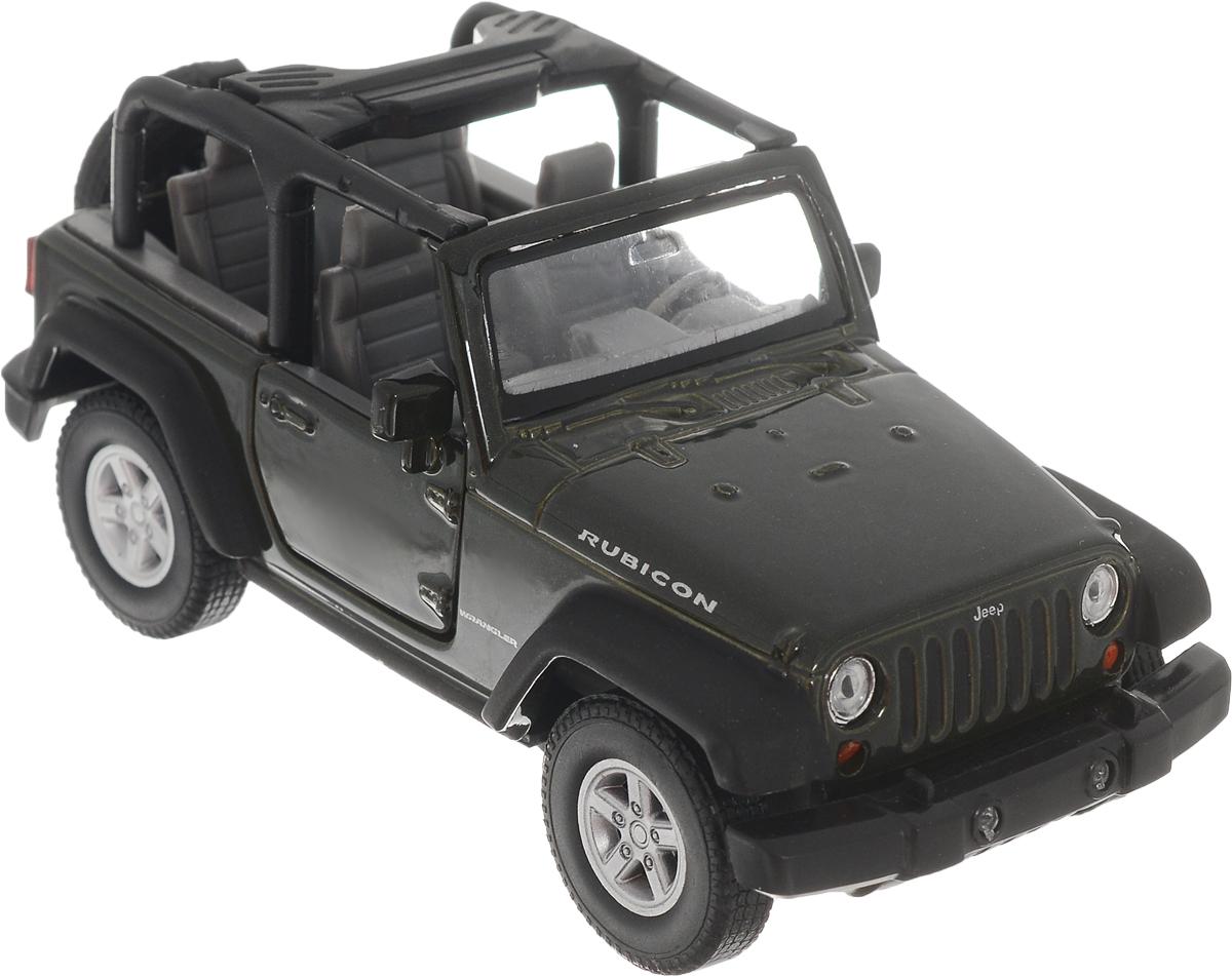 цена на Welly Модель автомобиля Jeep Wrangler Rubicon цвет темно-зеленый