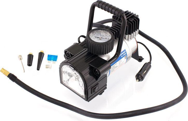 Компрессор автомобильный DolleX, с предохранителем и фонарем, 12V, 14 A, 150PSI, 40 л/мин