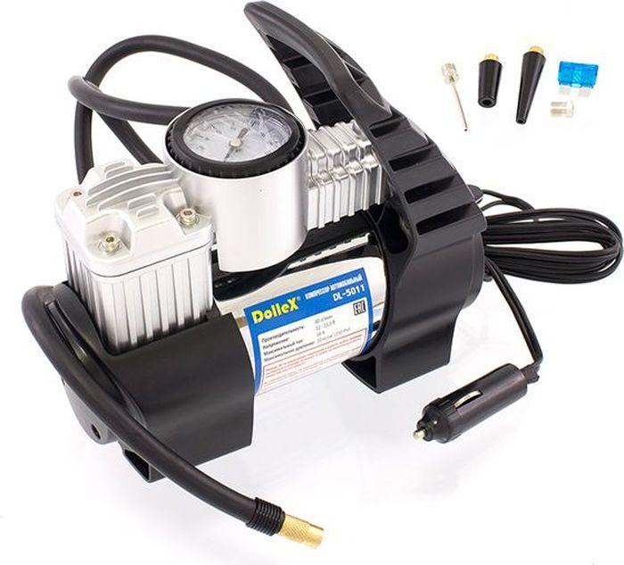 Компрессор автомобильный DolleX, с предохранителем, 12V, 14 A, 150PSI, 40 л/мин автомобильный компрессор с пылесосом zipower pm 6510 15л мин