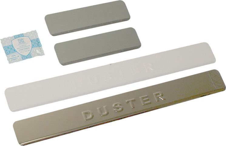 Накладки внутренних порогов DolleX, для RENAULT Duster, 4 шт липкая лента bondage tape