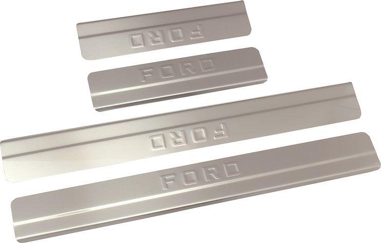 Накладки внутренних порогов DolleX, для FORD Focus III рейсталинг (2015->), ступенчатые, 4 шт липкая лента bondage tape
