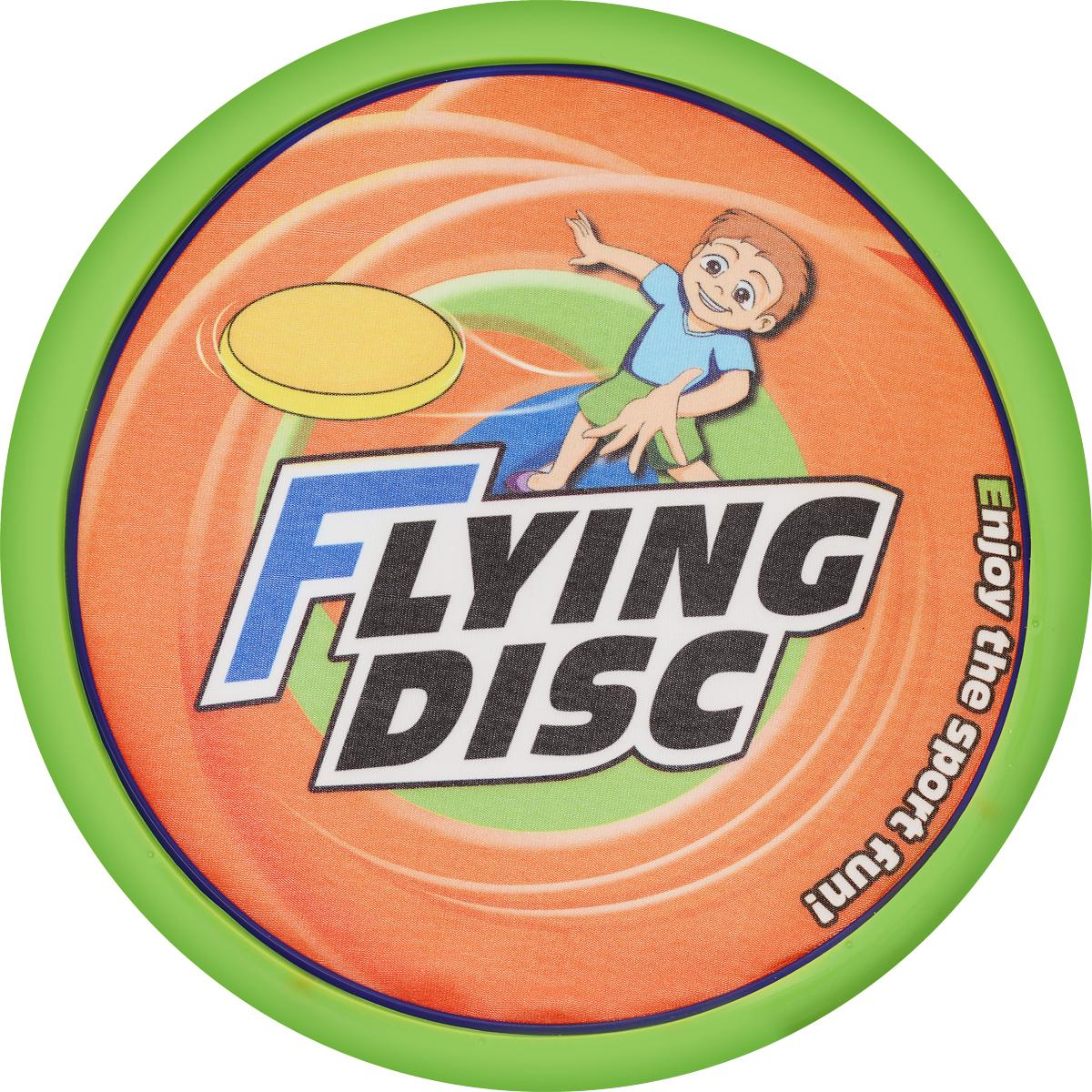 цена на YG Sport Летающая тарелка цвет салатовый оранжевый диаметр 20 см