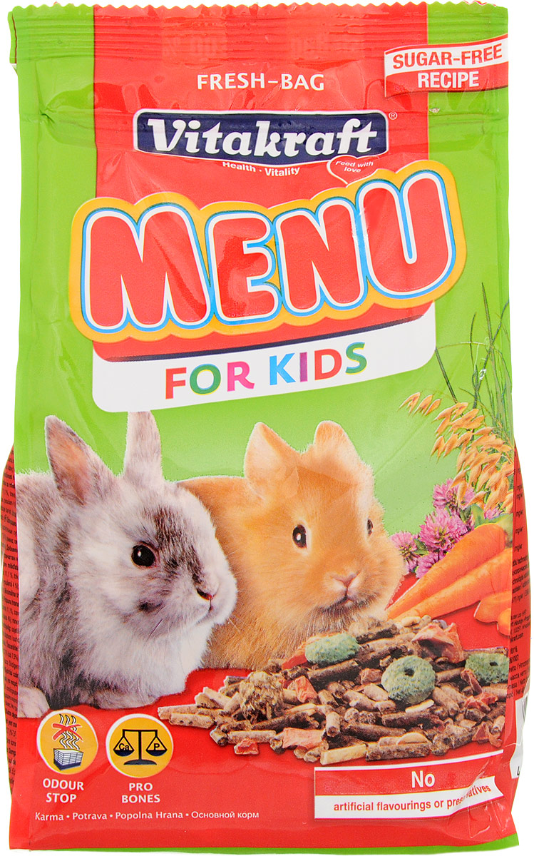 "Корм для молодых кроликов Vitakraft ""Menu Kids"", 500 г"