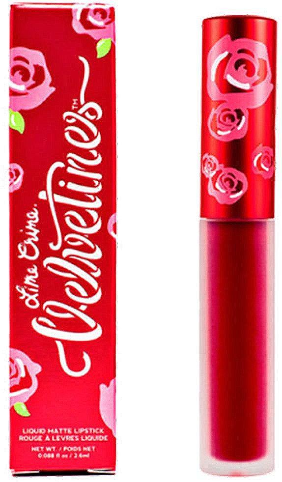 Жидкая матовая губная помада Lime Crime Velvetines, Red Rose, 2,6 мл lime crime lipstick velvetines jinx помада жидкая матовая 23 гр