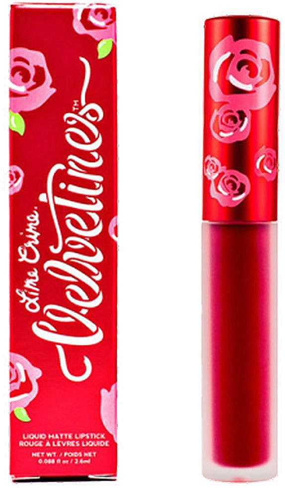 Lime Crime Помада для губ матовая Velvetines Red Rose, 2,6 мл lime crime матовая помада velvetines cashmere 2 6 ml