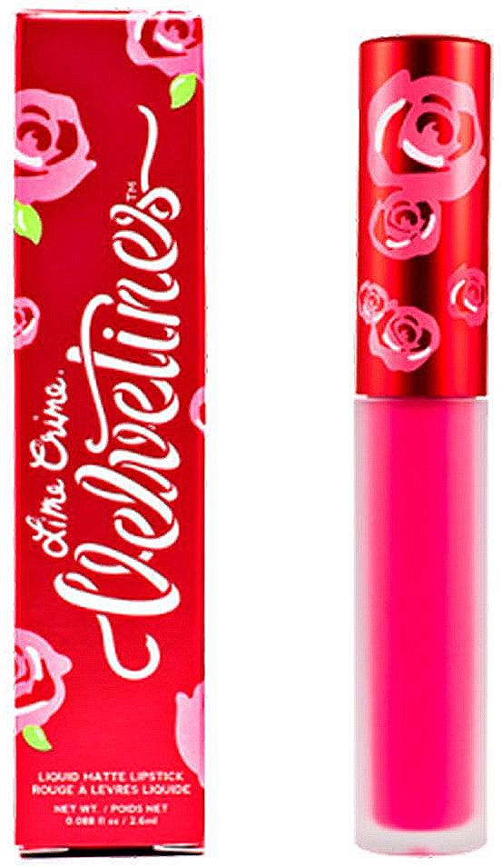 Lime Crime Помада для губ матовая Velvetines Pink Velvet, 2,6 мл lime crime lipstick velvetines jinx помада жидкая матовая 23 гр