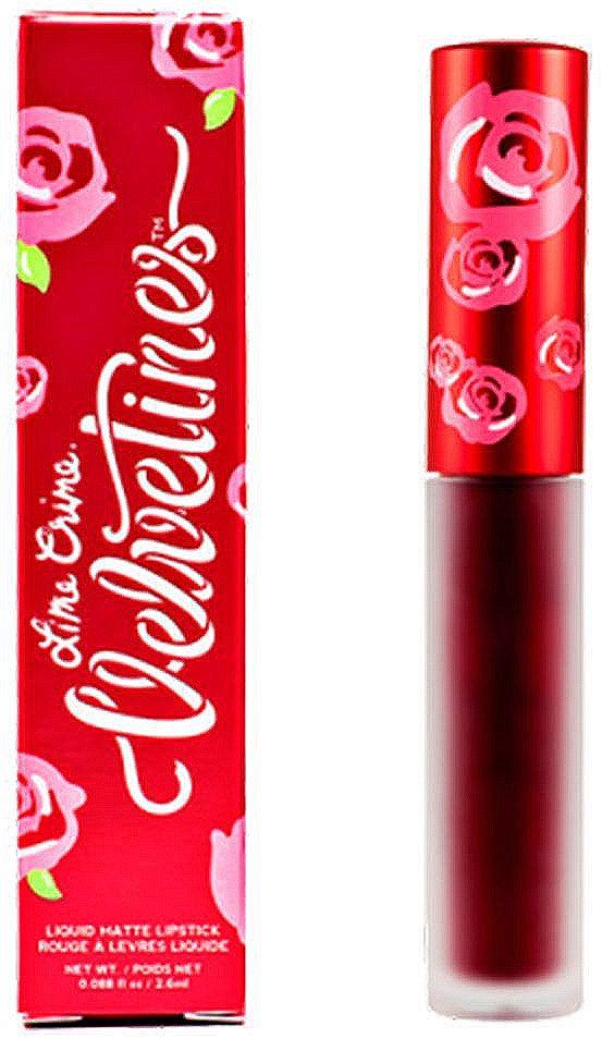 Lime Crime Помада для губ матовая Velvetines Wicked, 2,6 мл lime crime lipstick velvetines jinx помада жидкая матовая 23 гр