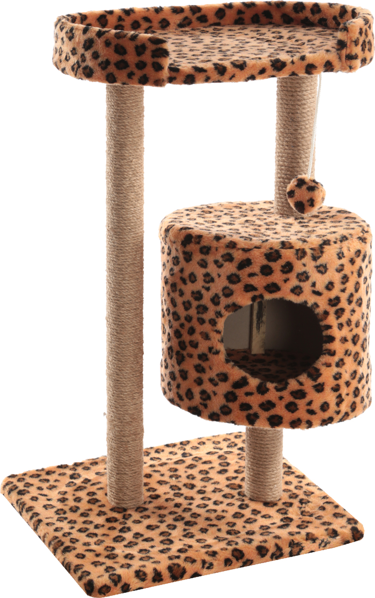 Домик-когтеточка Меридиан, круглый, с площадкой, цвет: в ассортименте, 52 х 52 х 105 смД517ЛеДомик-когтеточка Меридиан выполнен из высококачественного ДВП и ДСП и обтянут искусственным мехом. Изделие предназначено для кошек. Ваш домашний питомец будет с удовольствием точить когти о специальные столбики, изготовленные из джута. А отдохнуть он сможет либо на полке, либо в домике. Изделие снабжено подвесной игрушкой. Домик-когтеточка Меридиан принесет пользу не только вашему питомцу, но и вам, так как он сохранит мебель от когтей и шерсти. Общий размер: 52 х 52 х 105 см. Размер домика: 35 х 35 х 32 см. Размер полки: 51 х 29 см.Уважаемые клиенты!Обращаем ваше внимание на цветовой ассортимент товара. Поставка осуществляется в зависимости от наличия на складе. Как выбрать когтеточку – статья на OZON Гид.