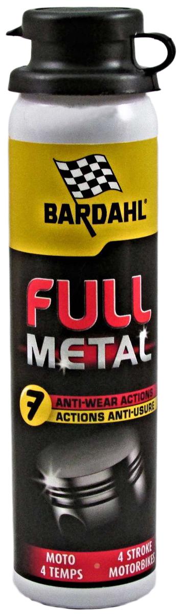 Присадка многофункциональная Bardahl Full Metall Moto, в моторное масло, 75 мл2812Присадка от компании Bardahl заключает в себе все самые передовые достижения этого бренда. Подходит для всех типов мото-двигателей. Снижает расход (угар) масла, снижает потери на трение в несколько раз, что напрямую влияет на динамические характеристики (разгон) и расход топлива. Смягчает все резиновые детали двигателя, сальники, маслосъемные колпачки и т. д. Главное создает особую, несмываемую пленку, которая защищает ваш двигатель в момент пуска, когда масло, после длительной стоянки отсутствует на стенках цилиндра. Пожалуй, это и делает присадку Full Metal такой особенной и не похожей ни на какие другие. Рекомендуем!