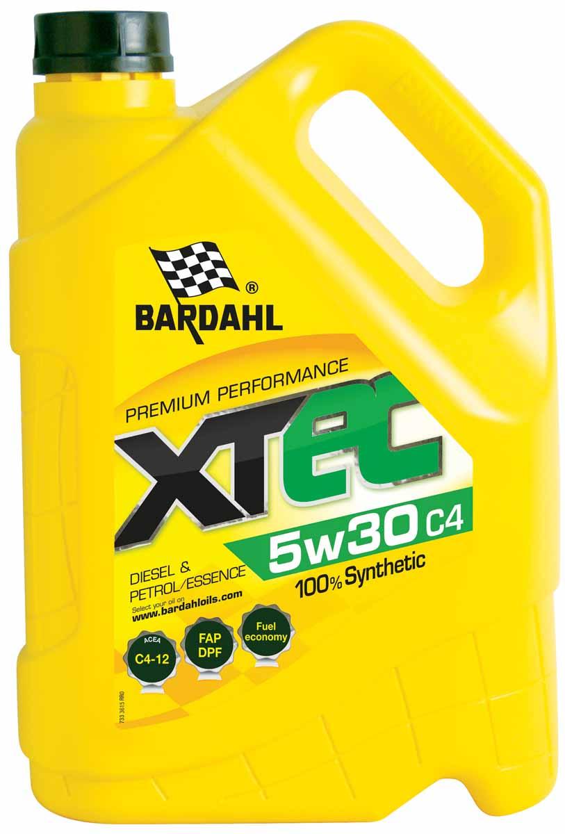 """Масло моторное Bardahl """"XTEC"""", синтетическое, 5W-30, 5 л. 36153"""