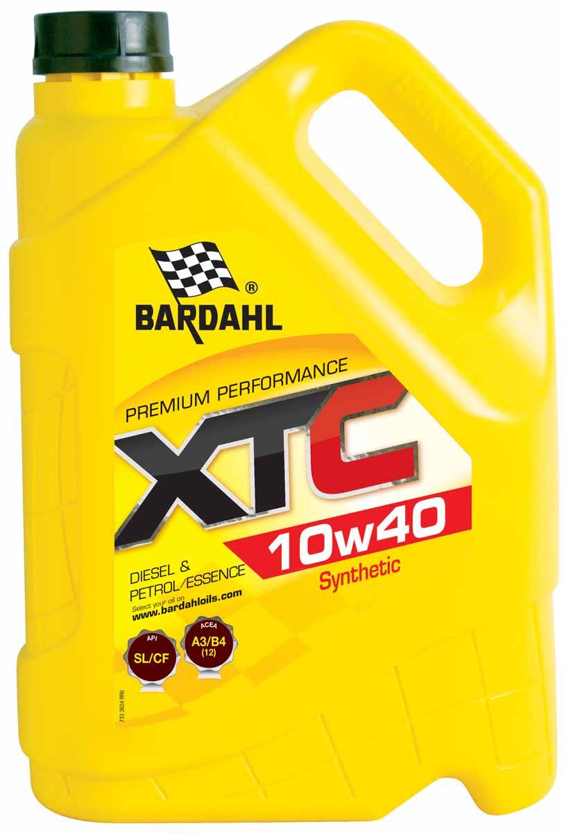 Масло моторное Bardahl XTС, полусинтетическое, 10W-40, 5 л цена