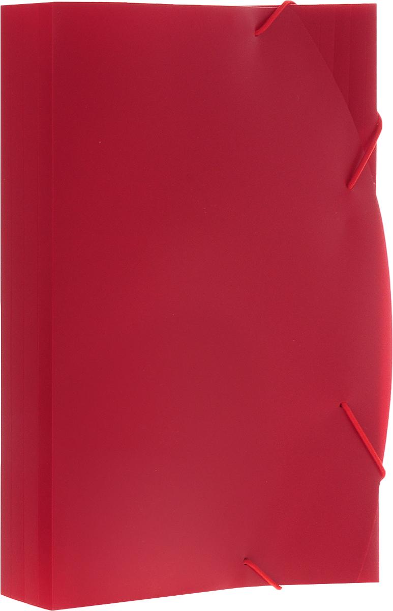 Albion Папка на резинках Basic цвет красный папка для труда albion бабочки а4