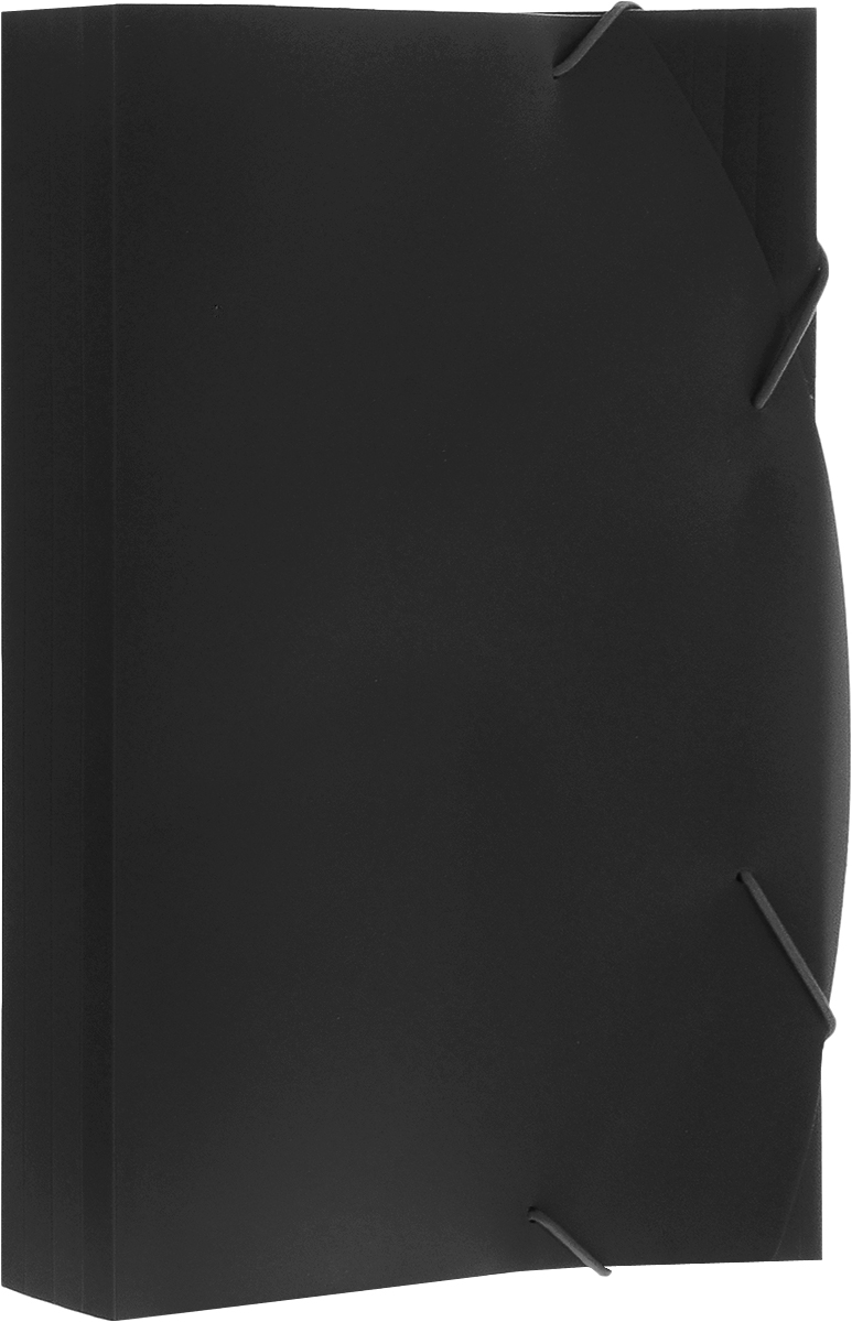 Albion Папка на резинках Basic цвет черный AL10910 папка для труда albion бабочки а4
