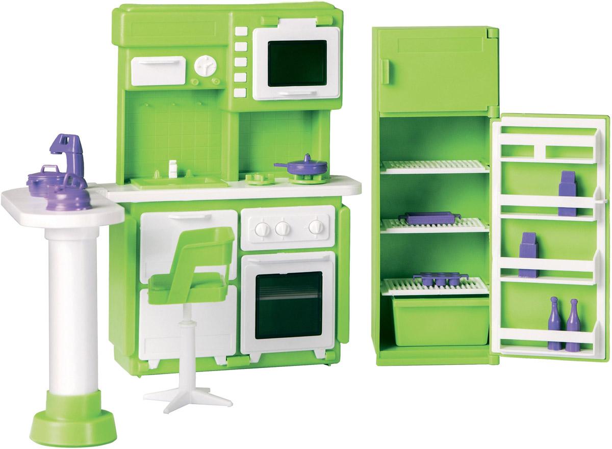 цены на Огонек Набор мебели для кукол Кухня Конфетти цвет зеленый  в интернет-магазинах