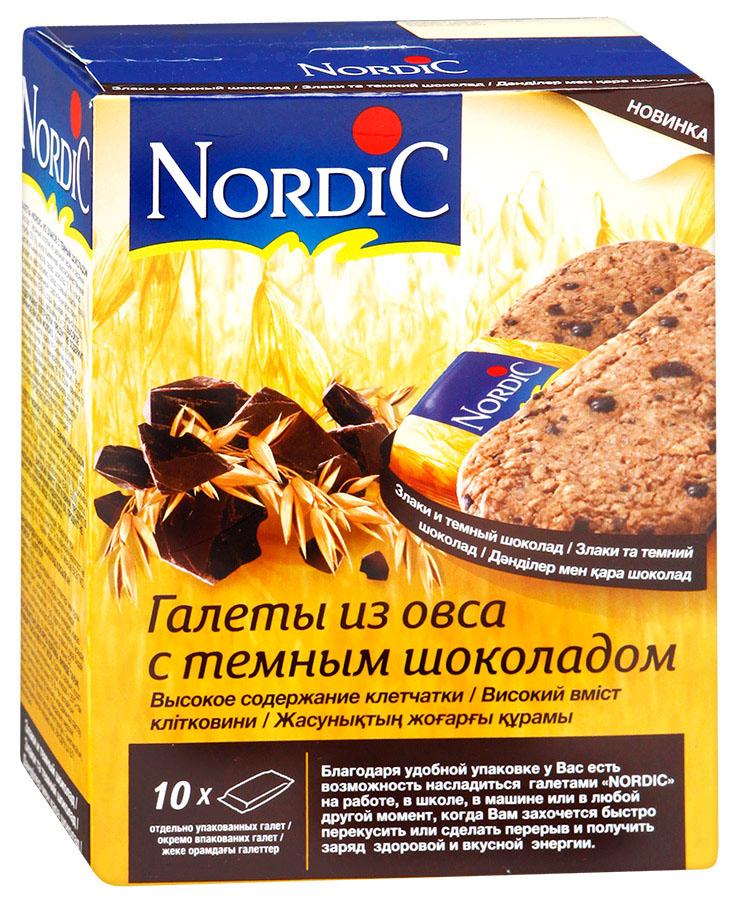 Nordic галета из овса с темным шоколадом, 300 г нордик галеты из овса с темным шоколадом 300г 10шт по 30г