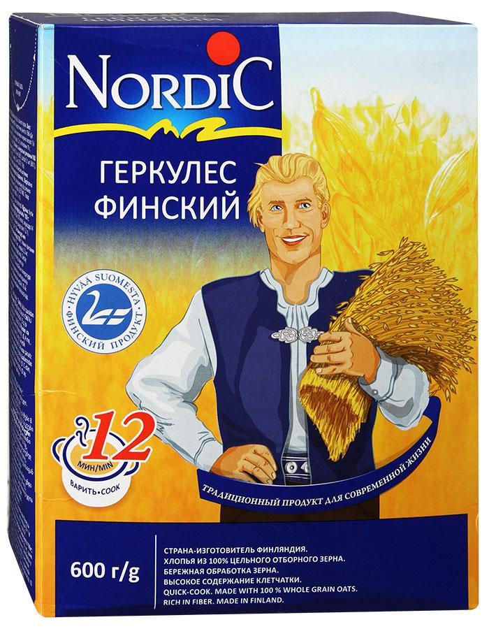 Nordic геркулес финский, 600 г nordic хлопья пшенные 350 г