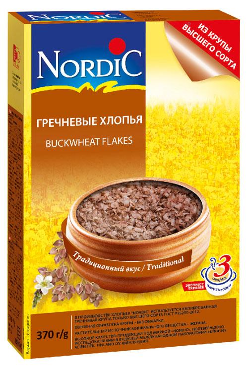 Nordic хлопья гречневые, 370 г nordic хлопья пшенные 350 г