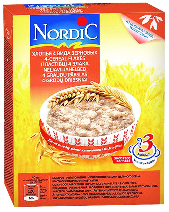 Nordic хлопья 4 вида зерновых, 600 г nordic хлопья пшенные 350 г