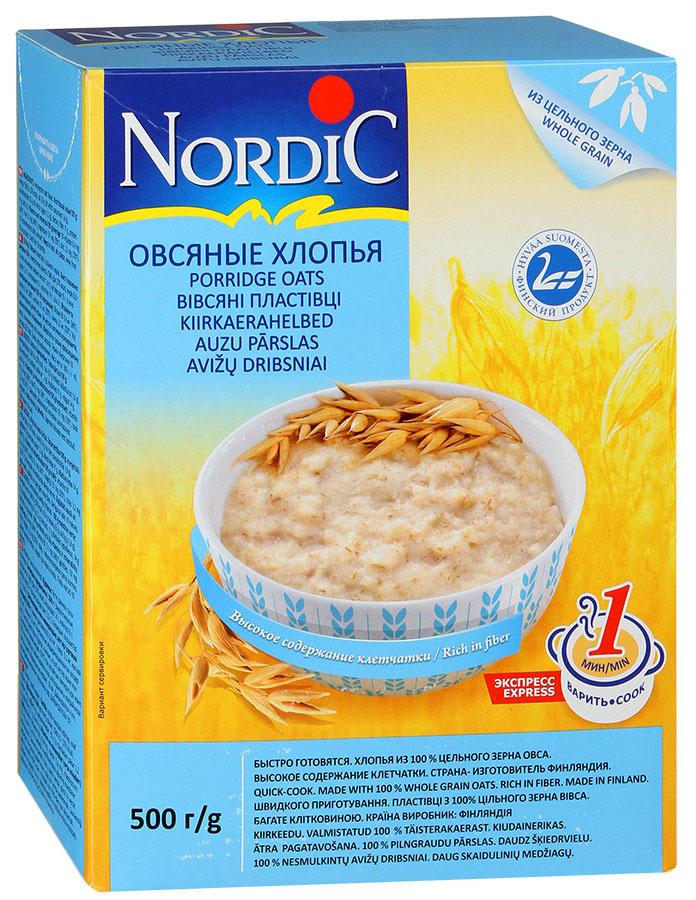 Nordic хлопья овсяные, 500 г nordic хлопья пшенные 350 г