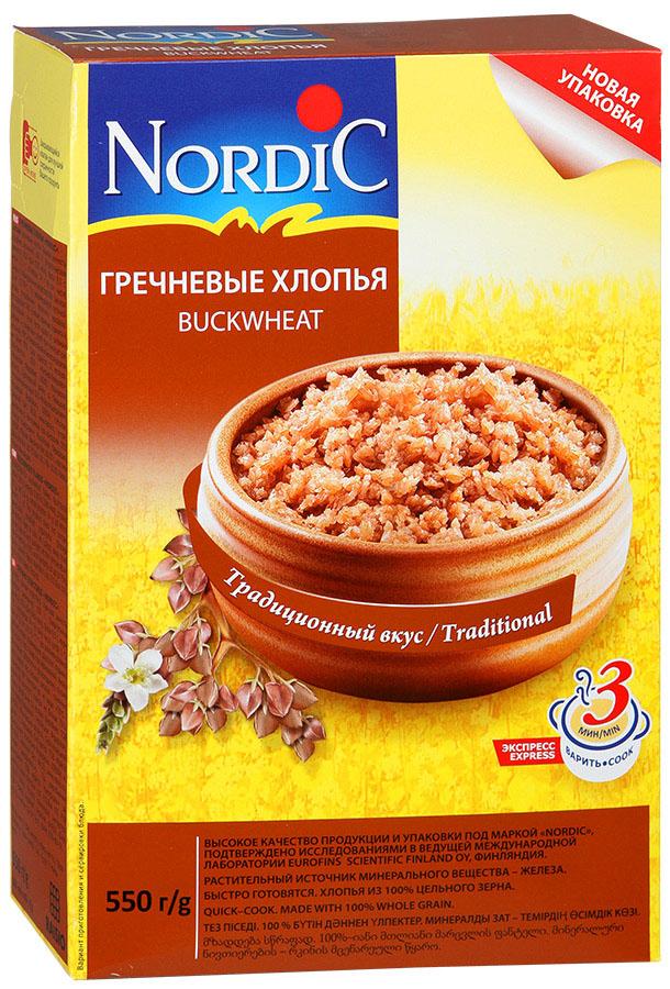 Nordic хлопья гречневые, 550 г nordic хлопья пшенные 350 г
