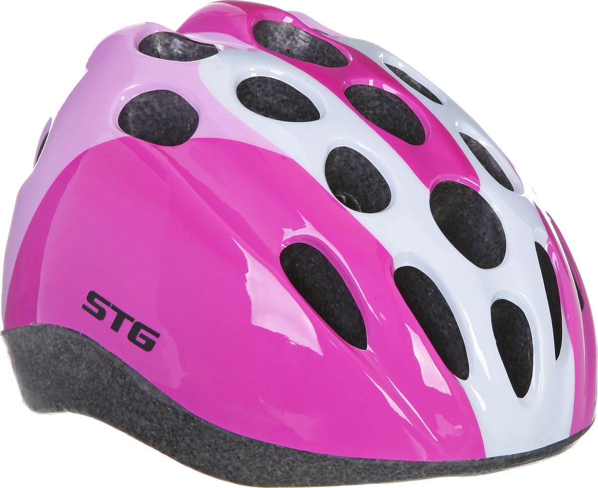Шлем велосипедный STG HB5-3-A, детский. Размер S защита обуви для катания на беговеле puky красная