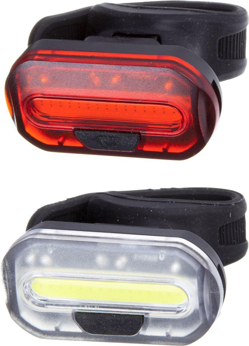Набор велосипедных фонарей STG JY-6068, 2 шт велокомьютер stg jy m19 cl проводной 15 функций