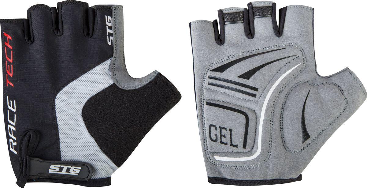Перчатки велосипедные STG AI-03-108, летние, цвет: черный, серый. Размер M улитка wonny zx 090 велосипедные перчатки антискользящие шок летние дышащие перчатки перчатки перчатки синий m