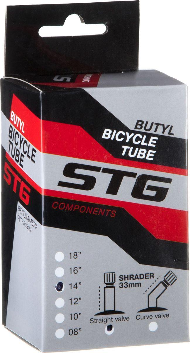 Камера велосипедная STG, с автониппелем, диаметр колеса 14, ширина колеса 1,75 камера велосипедная stg с автониппелем диаметр колеса 26 ширина колеса 1 75 1 95 х82417