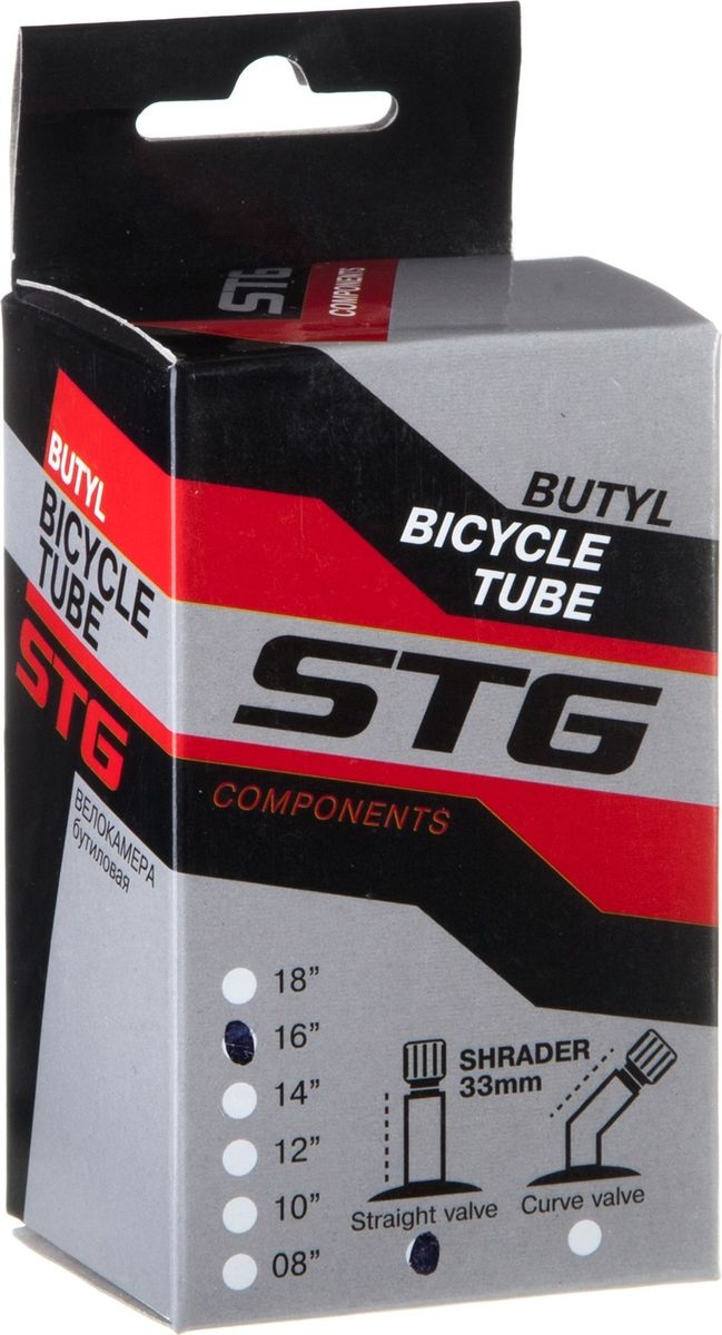Камера велосипедная STG, с автониппелем, диаметр колеса 16, ширина колеса 1,75 камера велосипедная stg с автониппелем диаметр колеса 26 ширина колеса 1 75 1 95 х82417