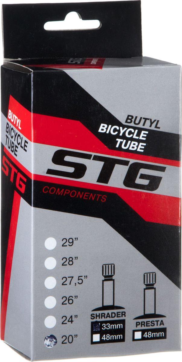 Камера велосипедная STG, с автониппелем, диаметр колеса 20, ширина колеса 1,75-1,95 камера велосипедная stg с автониппелем диаметр колеса 26 ширина колеса 1 75 1 95 х82417