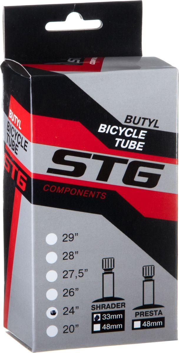 Камера велосипедная STG, с автониппелем, диаметр колеса 24, ширина колеса 1,75-1,95 камера велосипедная stg с автониппелем диаметр колеса 26 ширина колеса 1 75 1 95 х82417