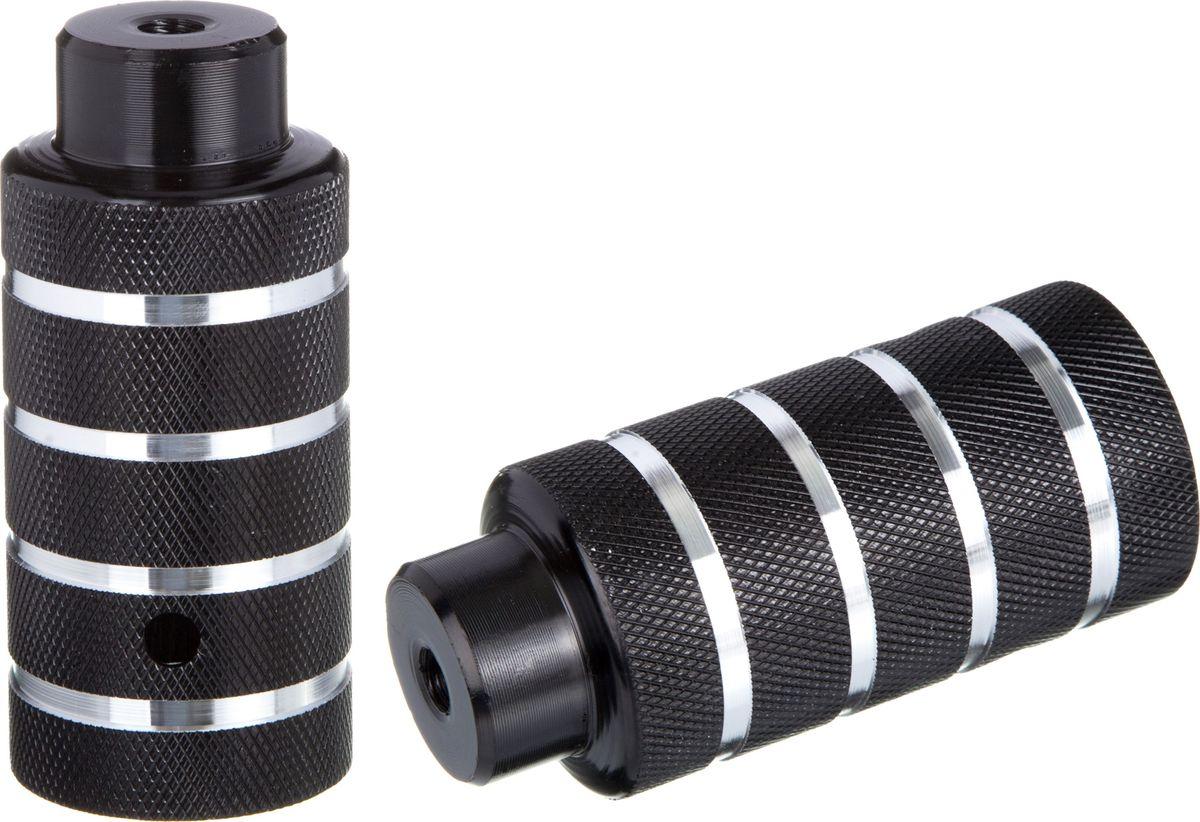 Пеги для BMX STG, цвет: черный, серебристый, диаметр 5 см, длина 11 см, 2 шт