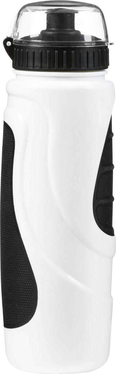Фляга велосипедная STG DC-BT-55, с крышкой, цвет: черный, белый, 700 мл. Х83103