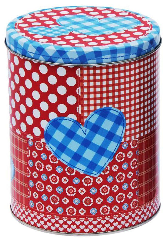 Набор банок для сыпучих продуктов Рязанская фабрика жестяной упаковки Пэчворк. Сердце, 3 шт набор банок для пищевых продуктов цвет зеленый оранжевый бордовый 3 шт