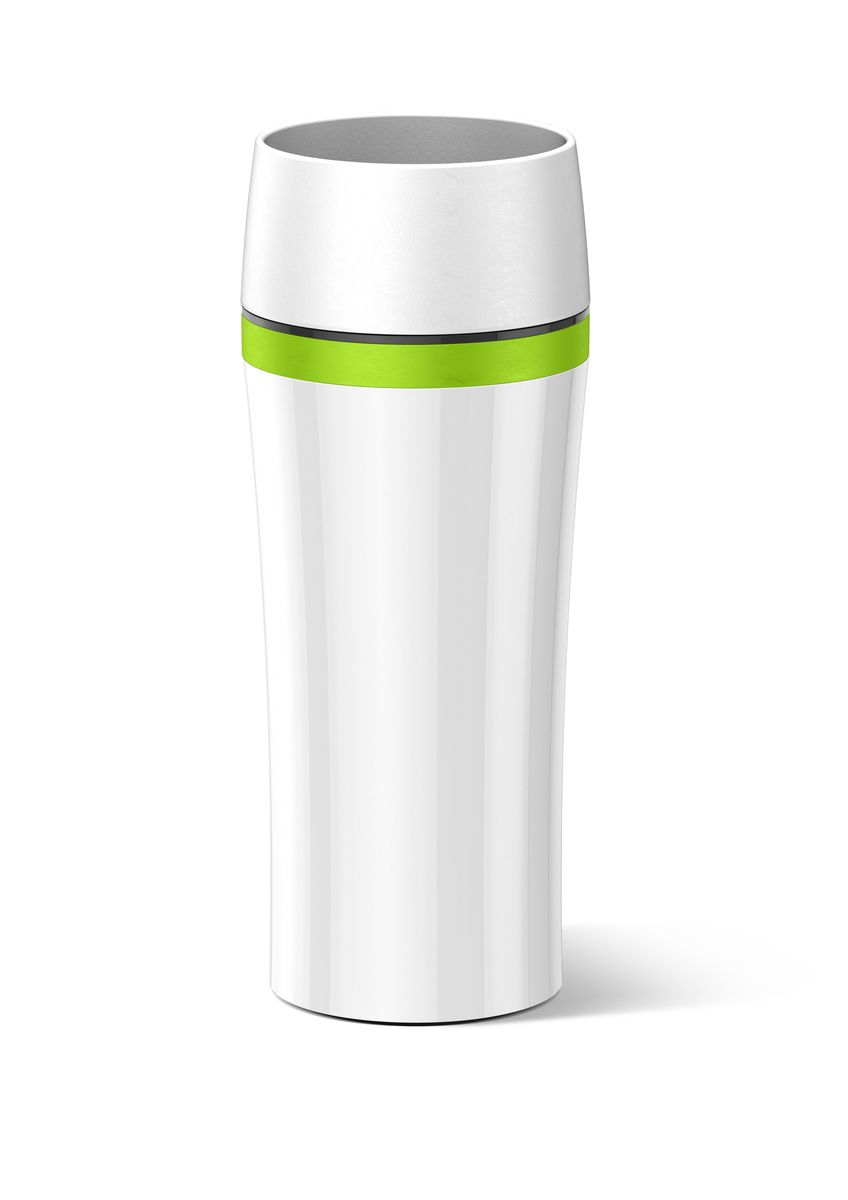 Термокружка Emsa Travel Mug Fun, цвет: белый, зеленый, 360 мл цена