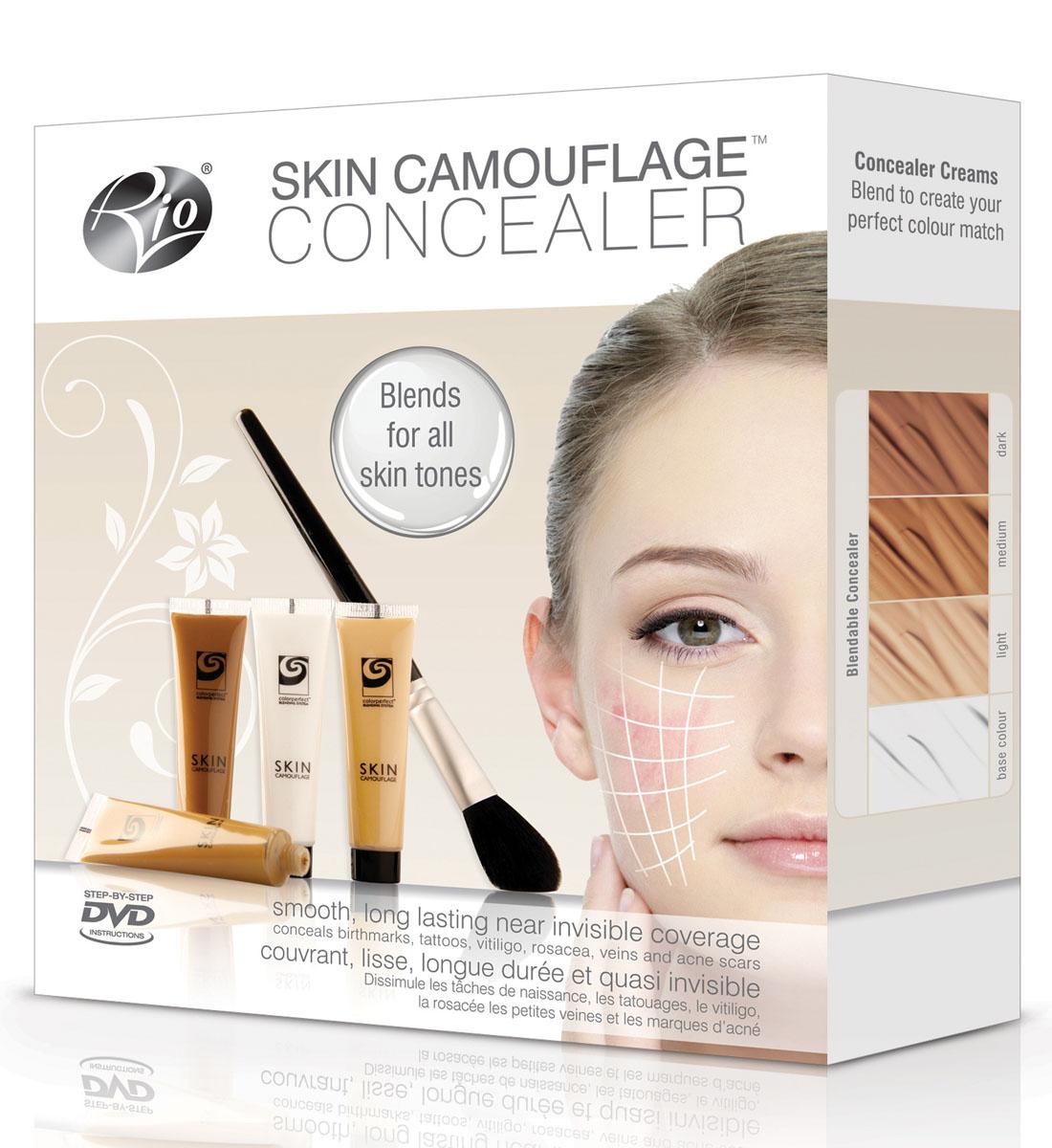 Rio Профессиональный набор для камуфляжа дефектов кожи Camo2, 4 х 15 мл