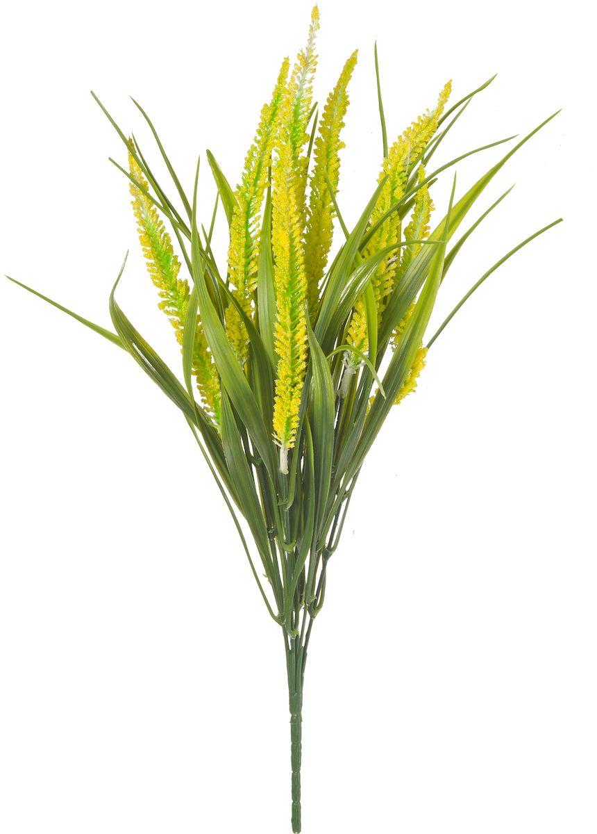 Цветы искусственные Engard Вереск, цвет: желтый, высота 40 см цветы искусственные engard лесная фиалка цвет фиолетовый высота 15 см 10 шт