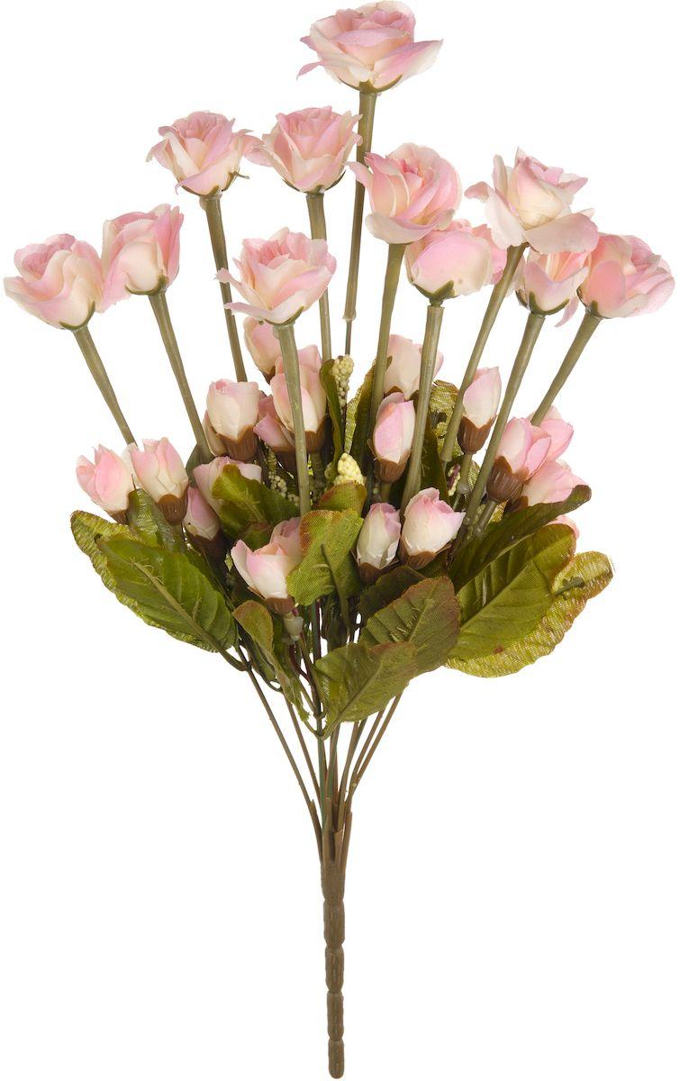 Цветы искусственные Engard Роза кустовая, цвет: светло-розовый, высота 42 см цветы искусственные engard лесная фиалка цвет фиолетовый высота 15 см 10 шт