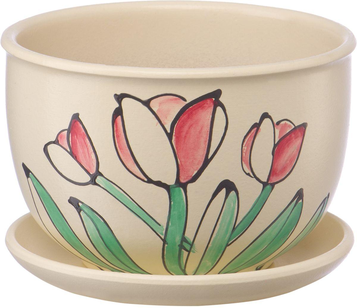 Горшок цветочный Engard, с поддоном, 0,5 л. BH-12-8BH-12-8Керамический горшок Engard - это идеальное решение для выращивания комнатных растений и создания изысканности в интерьере. Керамический горшок сделан из высококачественной глины в классической форме и оригинальном дизайне. Рекомендуем!