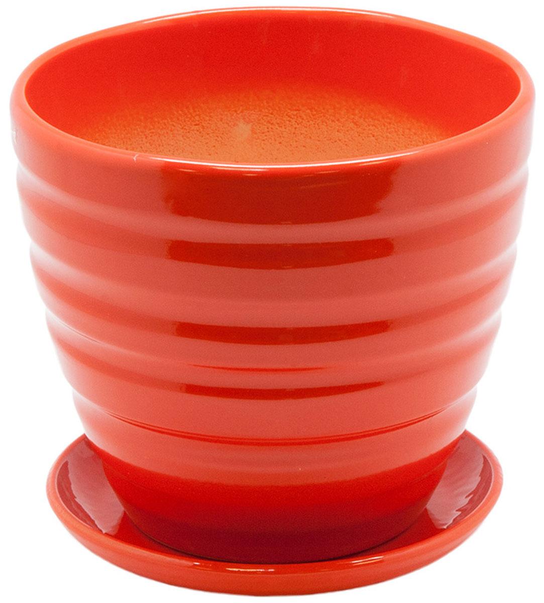 Горшок цветочный Engard, с поддоном, цвет: оранжевый, 1,4 лBH-22-1Керамический горшок Engard - это идеальное решение для выращивания комнатных растений и создания изысканности в интерьере. Керамический горшок сделан из высококачественной глины в классической форме и оригинальном дизайне. Объем: 1,4 л. Рекомендуем!