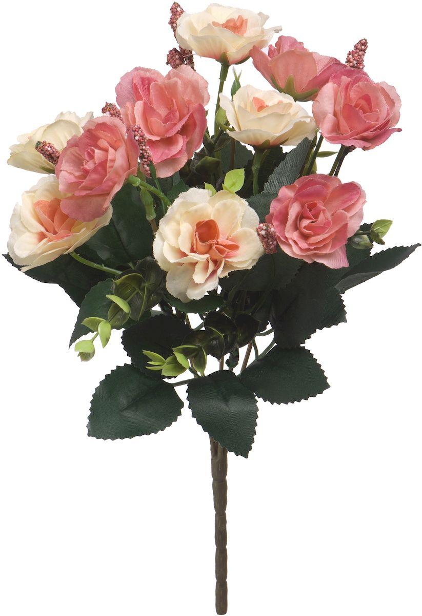 Цветы искусственные Engard Роза в букете, цвет: пудровый, 30 см цветы искусственные engard хризантема цвет пудровый высота 30 см