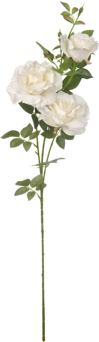 Цветы искусственные Engard Ветвь розы, цвет: белый, высота 102 см цветы искусственные engard лесная фиалка цвет фиолетовый высота 15 см 10 шт