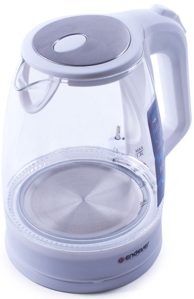 Электрический чайник Endever Skyline KR-325G, White electric kettle endever skyline kr 349