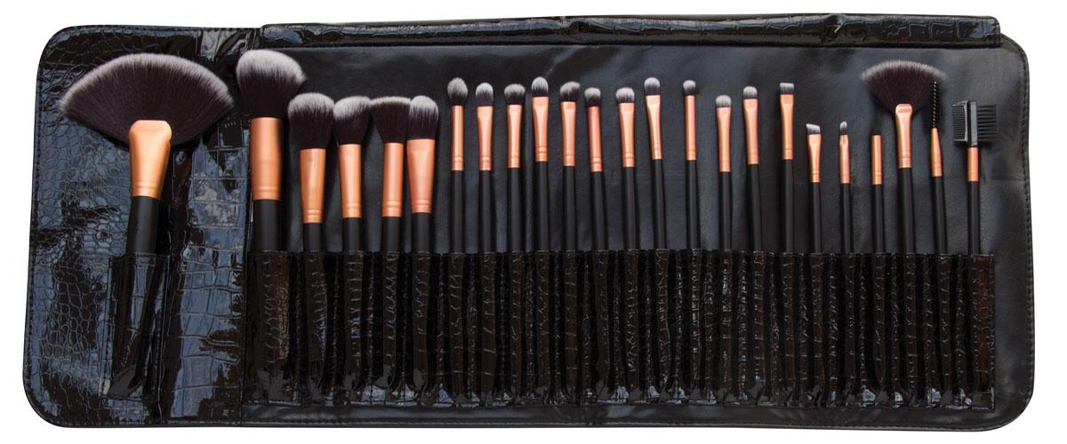 Rio Профессиональный набор кистей для макияжа Brst, 24 предмета + чехол