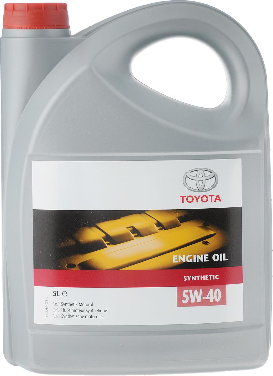 """Моторное масло Toyota """"SAE SM/CF A3/B3/B4"""", синтетическое, класс вязкости 5W40, 5 л"""